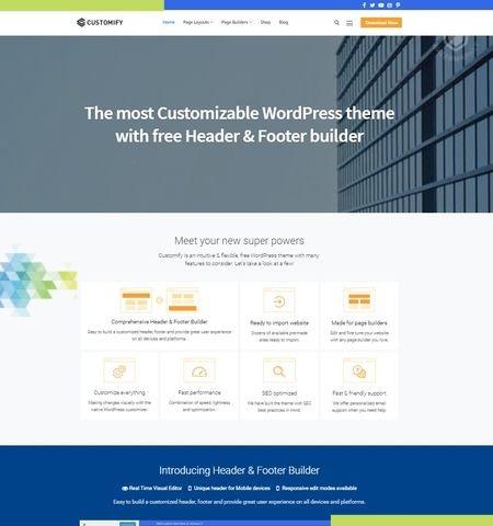 इस वर्ष के लिए कस्टमाइज़ सबसे अच्छा मुफ्त WordPress विषयों में से एक है।