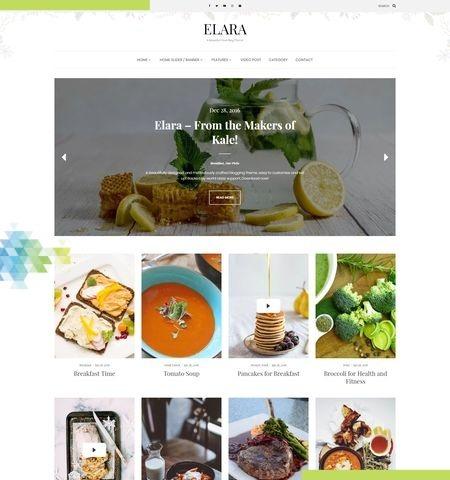 एलारा इस वर्ष के लिए सबसे अच्छा मुफ्त WordPress विषयों में से एक है।