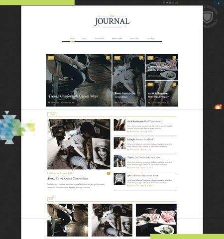जर्नल इस वर्ष के लिए सबसे अच्छा मुफ्त WordPress विषयों में से एक है।