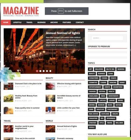 एमएच पत्रिका लाइट इस वर्ष के लिए सबसे अच्छा मुफ्त WordPress विषयों में से एक है।