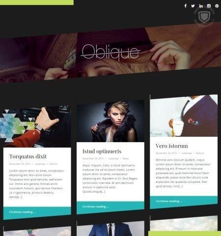 Oblique इस वर्ष के लिए सबसे अच्छा मुफ्त WordPress विषयों में से एक है।