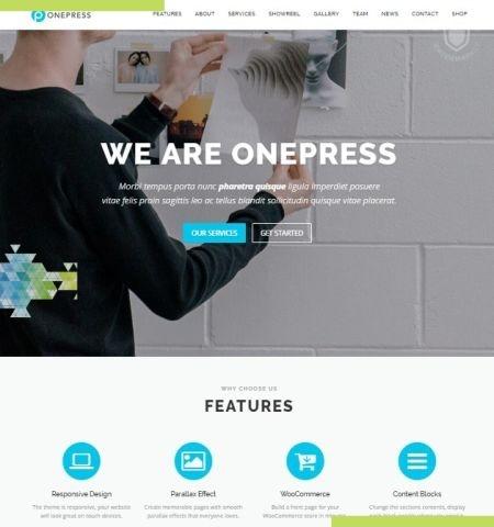 OnePress इस वर्ष के लिए सबसे अच्छा मुफ्त WordPress विषयों में से एक है।