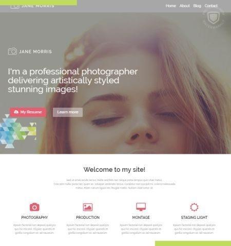 फ़ोटोग्राफ़र पोर्टफोलियो इस वर्ष के लिए सबसे अच्छा मुफ्त WordPress विषयों में से एक है।