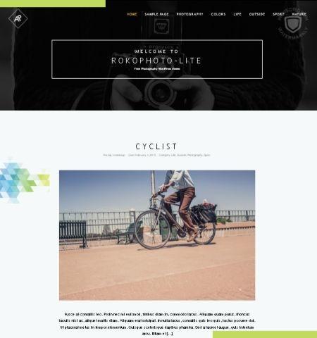 RokoPhoto Lite इस साल के लिए सबसे अच्छा मुफ्त WordPress विषयों में से एक है।
