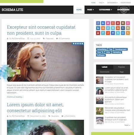 स्कीमा लाइट इस साल के लिए सबसे अच्छा मुफ्त WordPress विषयों में से एक है।