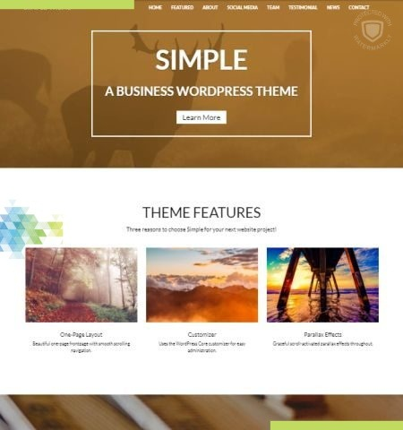 सरल इस वर्ष के लिए सबसे अच्छा मुफ्त WordPress विषयों में से एक है।