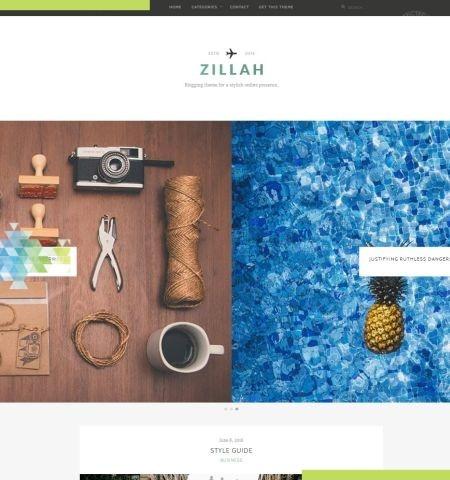 Zillah इस साल के लिए सबसे अच्छा मुफ्त WordPress विषयों में से एक है।
