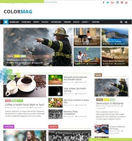 ColorMag इस वर्ष के लिए सबसे अच्छा मुफ्त WordPress विषयों में से एक है।
